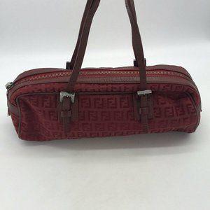 Fendi Red Monogram Small Hand Bag